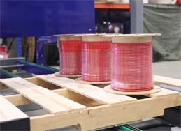 Spool on the pallet
